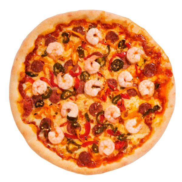 Pizza gambas al ajillo